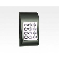 Codetastatur kompakt Alu grün für den Innen und Aussenbereich / 99 User, 1 Ausgang, Sabo, 12/24VAC/DC