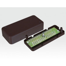 Verteiler mit Lötstiften AP 14-polig braun inkl. Sabokontakte / VdS Nr. G102016