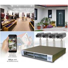 Videoüberwachungs-Paket 16 Kanal mit CVBS Chinch Ausgang / inkl. 4 Zoomkameras
